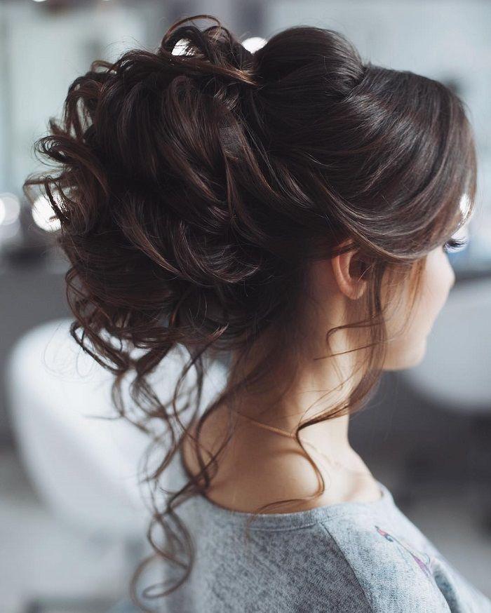 10 Beautiful Updo Hairstyles For Weddings 2019: Tarzınızı Dağınık Topuz Saç Modeliyle Değiştirin