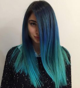 Renkli saç modelleri 2019