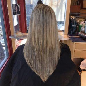 V saç modelleri 2019
